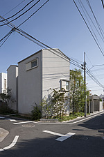 House in Musashiseki, Private House, General view from the crossroads - 90000-140-1