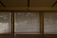 House in Minamigaoka, Cottage, Looking at grove of larch through bamboo blind - 90002-80-1