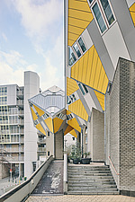 Exterior of Cube Houses, Rotterdam, Netherlands - ARC107391