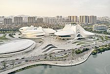 The Changsha Meixihu International Culture and Art Centre, located beside the Meixi Lake, in Changsha, the capital of the Hunan province in China - ARC108295