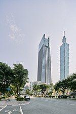 Nanshan Plaza in Taipei, Taiwan, stands at 272m tall, next the Taipei 101, the complex consists three buildings, an office tower, commercial and cultu... - ARC108460