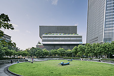 Nanshan Plaza in Taipei, Taiwan, stands at 272m tall, next the Taipei 101, the complex consists three buildings, an office tower, commercial and cultu... - ARC108464
